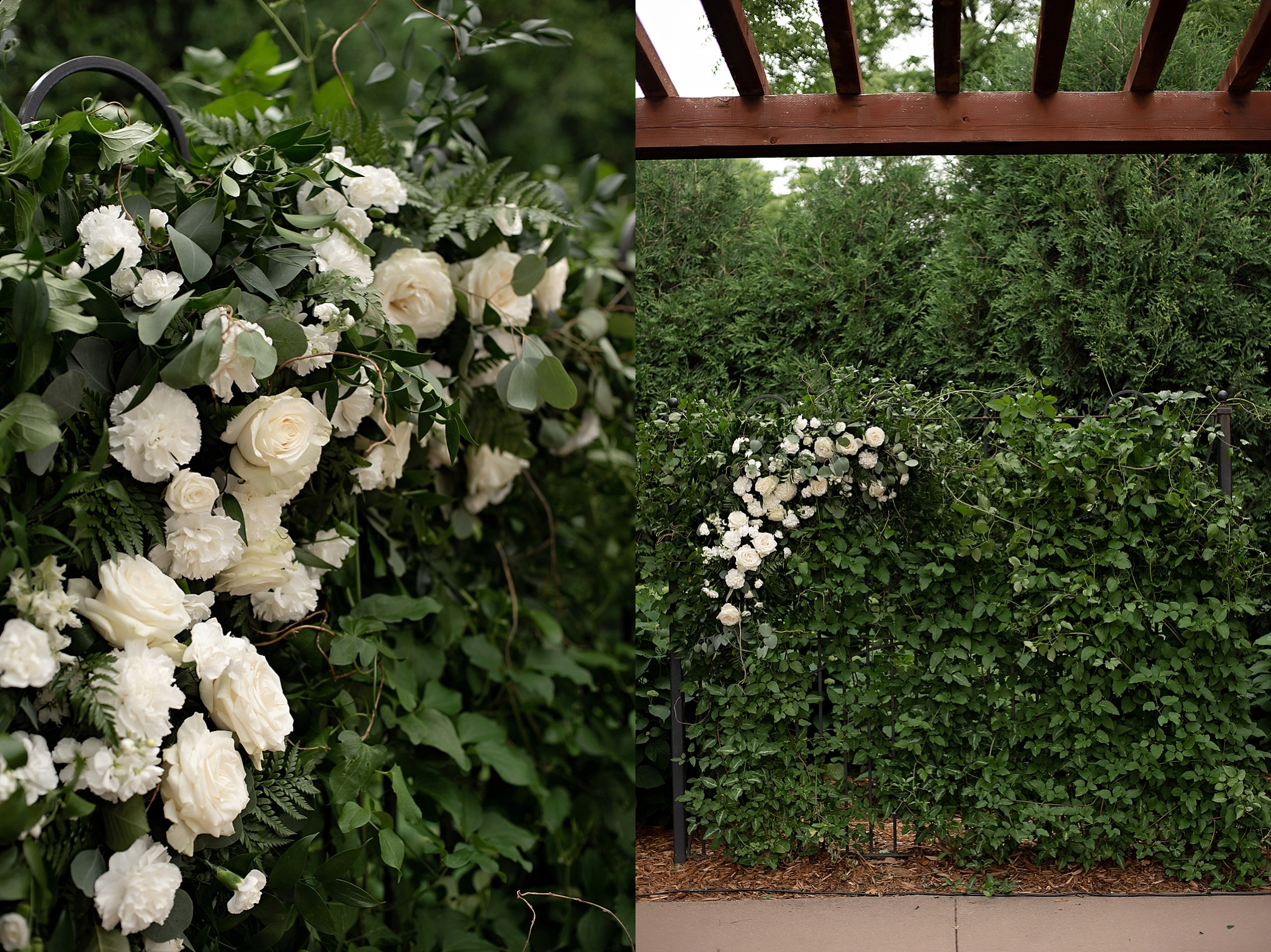 brickhouse florals wedding arch white floral design