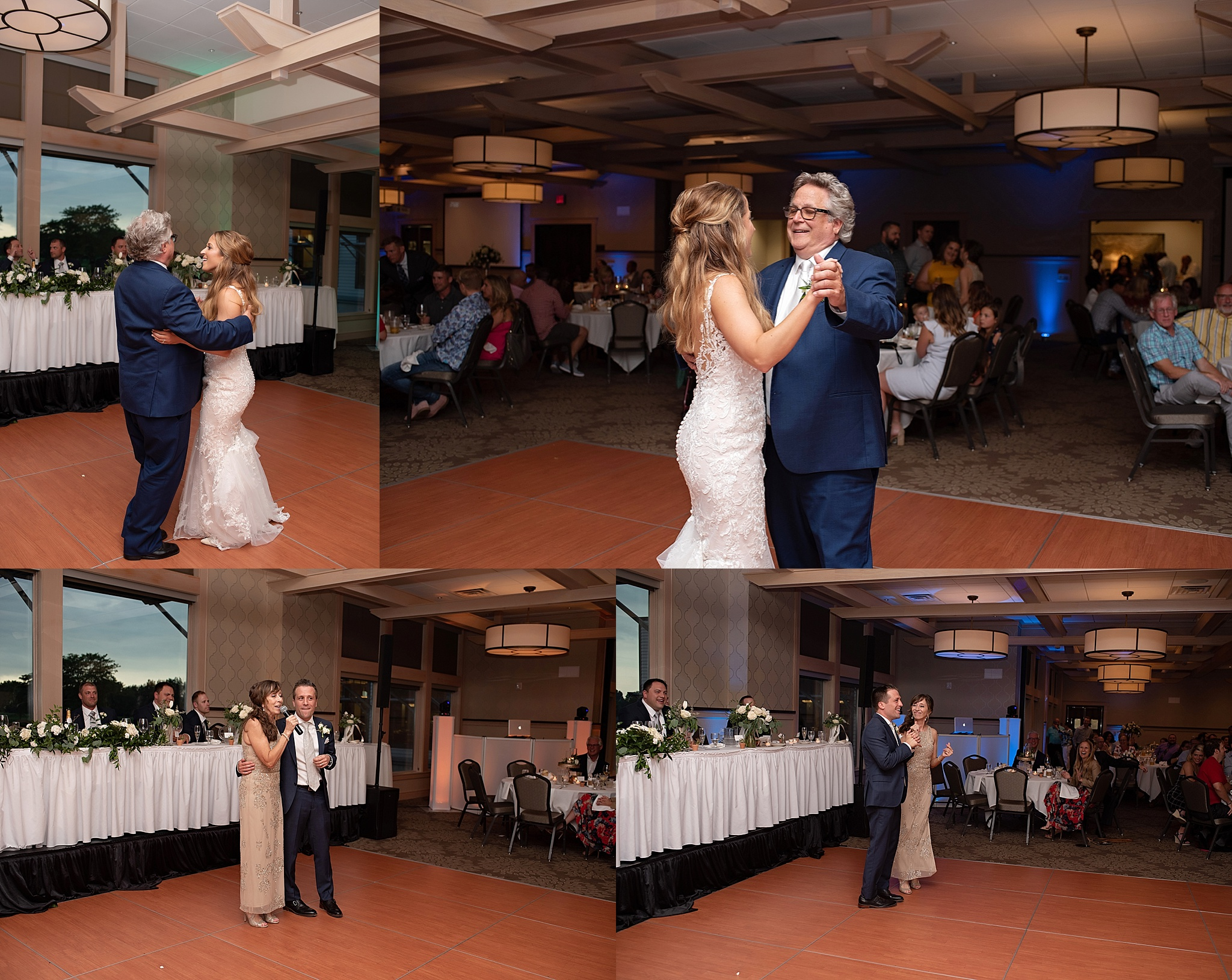 bride and groom first dance country club wedding