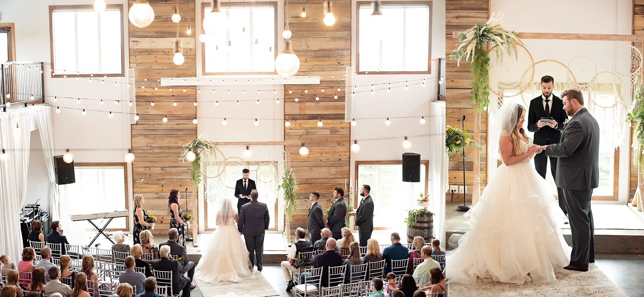 ceremony at blue haven barn