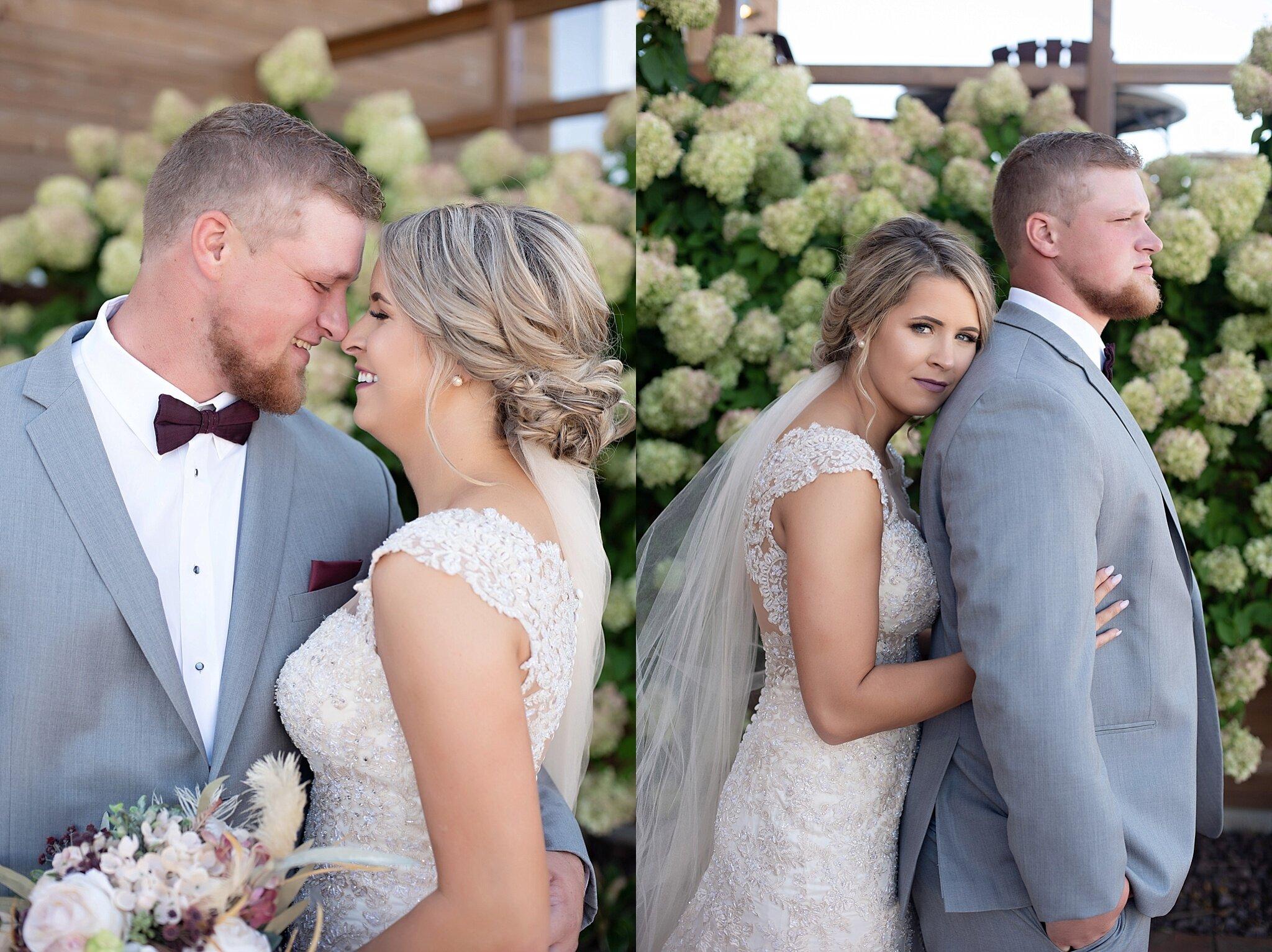 bride and groom portraits inwood iowa
