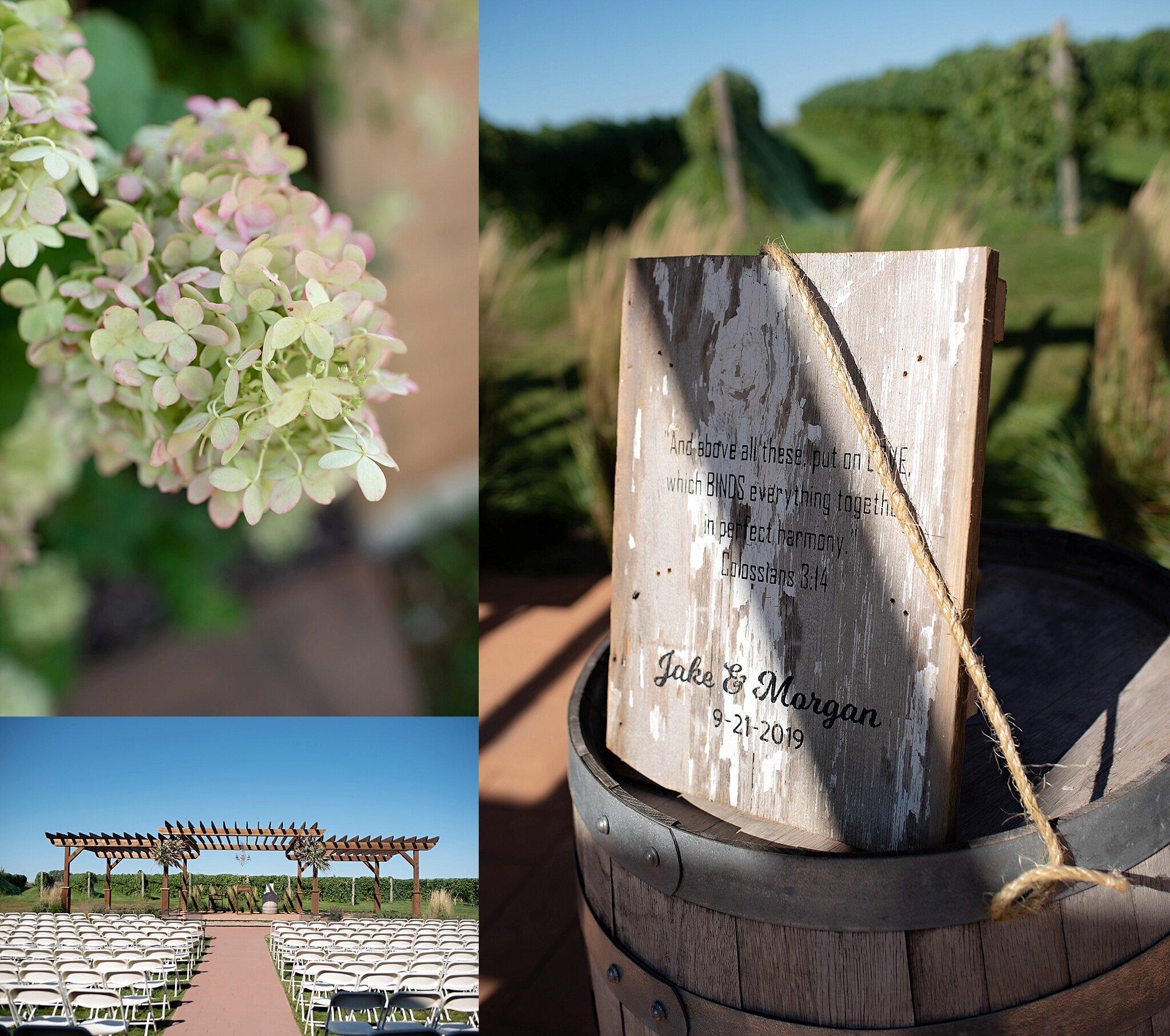 calico skies vineyard and winery wedding inwood iowa