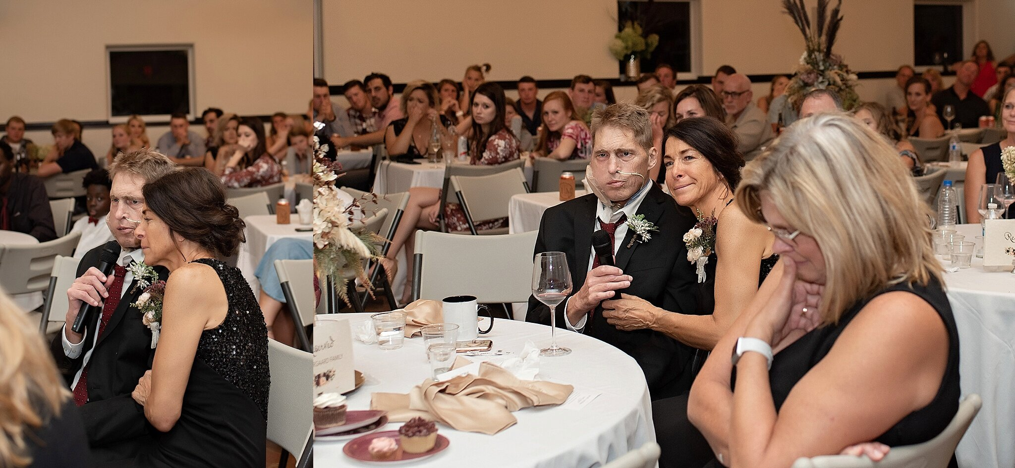 terminally ill father gives a speech at his daughter's wedding