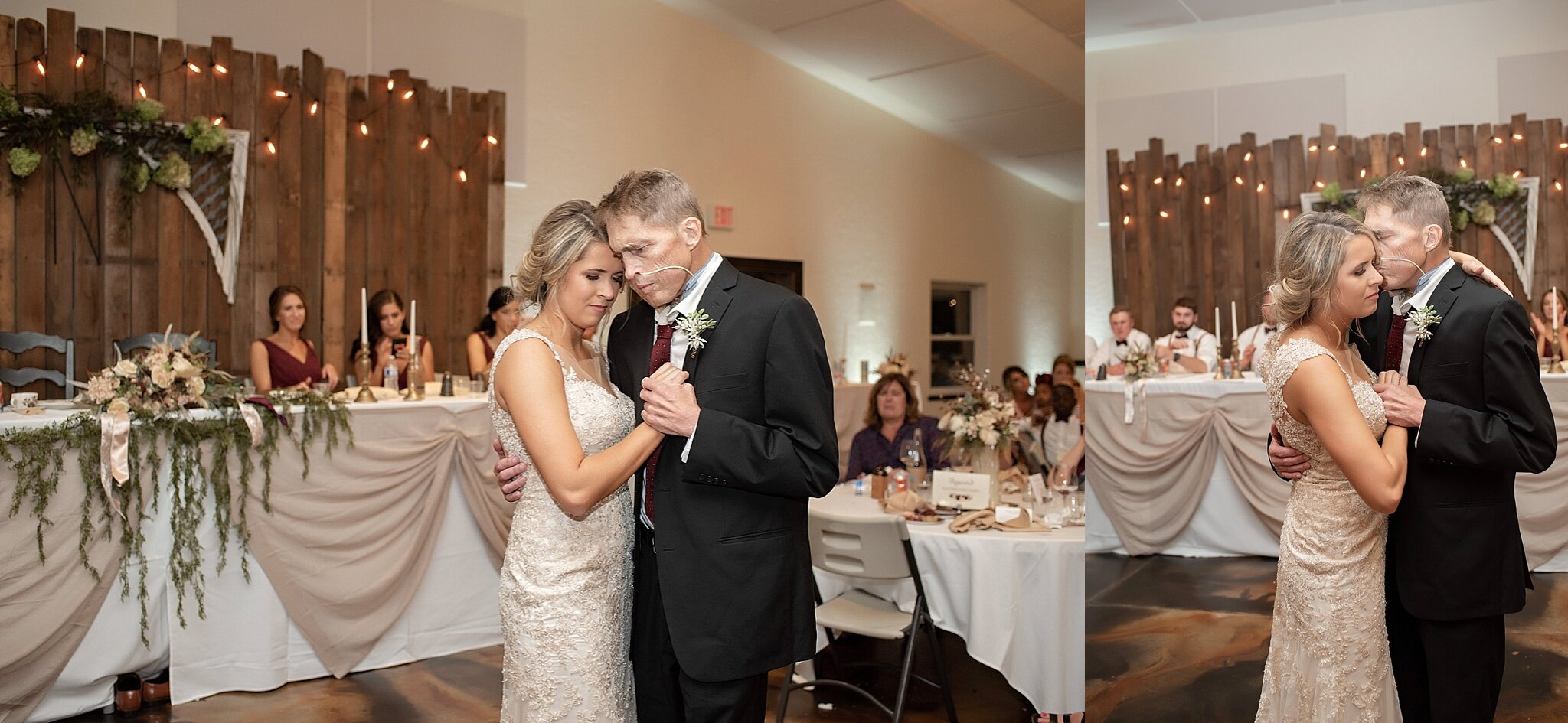 ill father dances with his daughter at her wedding