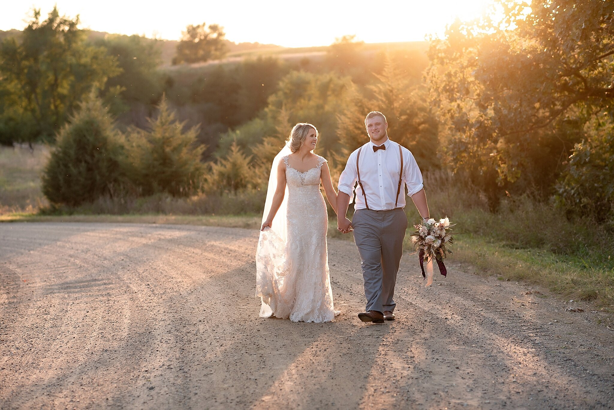 kate jones studios bride and groom sunset portrait wedding photographer