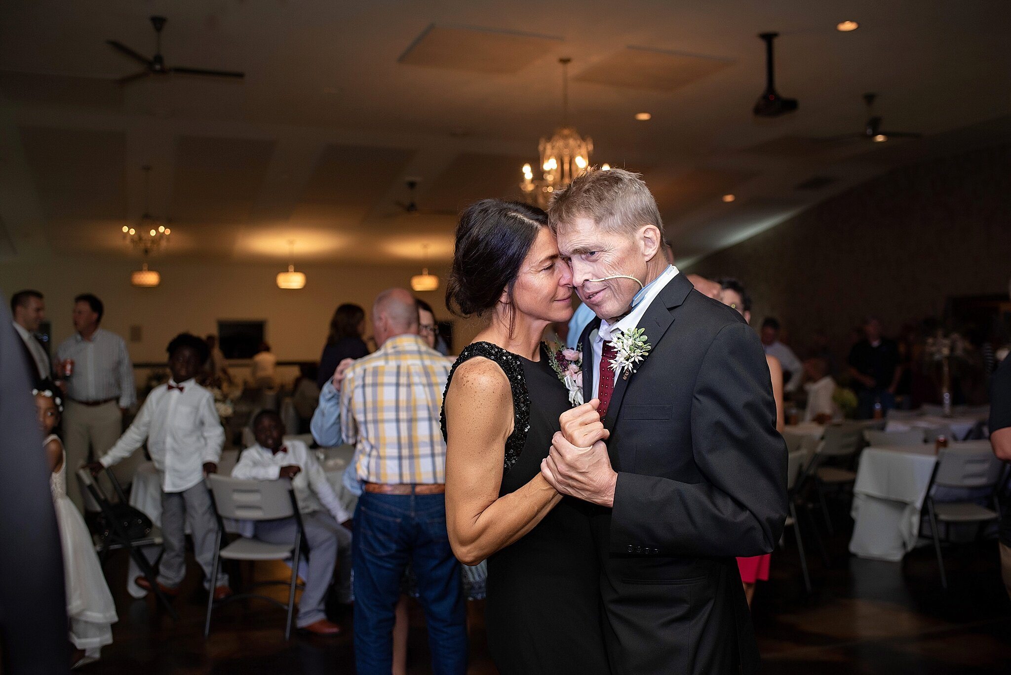 terminally ill father of the bride dances with his wife