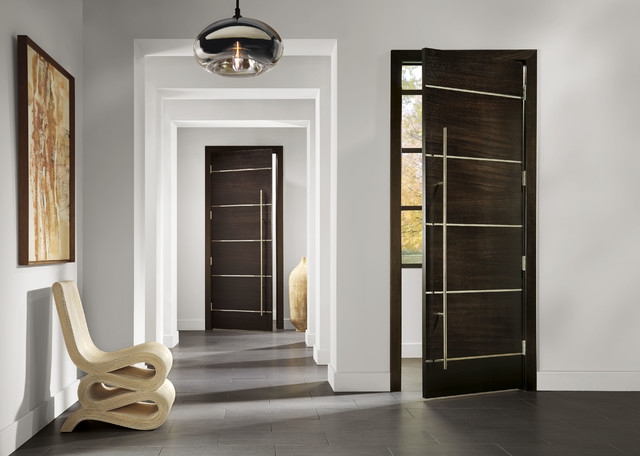 TRUSTILE contemporary, infinite rail, hinged door