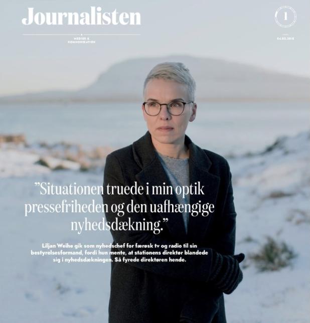 Forsíðan á danska yrkisblaðnum fyri miðlafólk - 2018-01    Mynd: Tróndur Dalsgarð/Publikkin