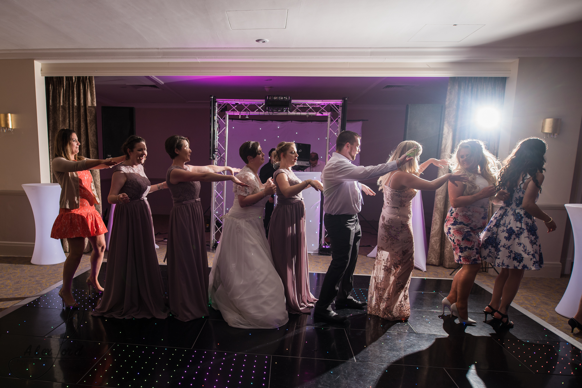 lots of wedding guests hit the dance floor straight after the first dance