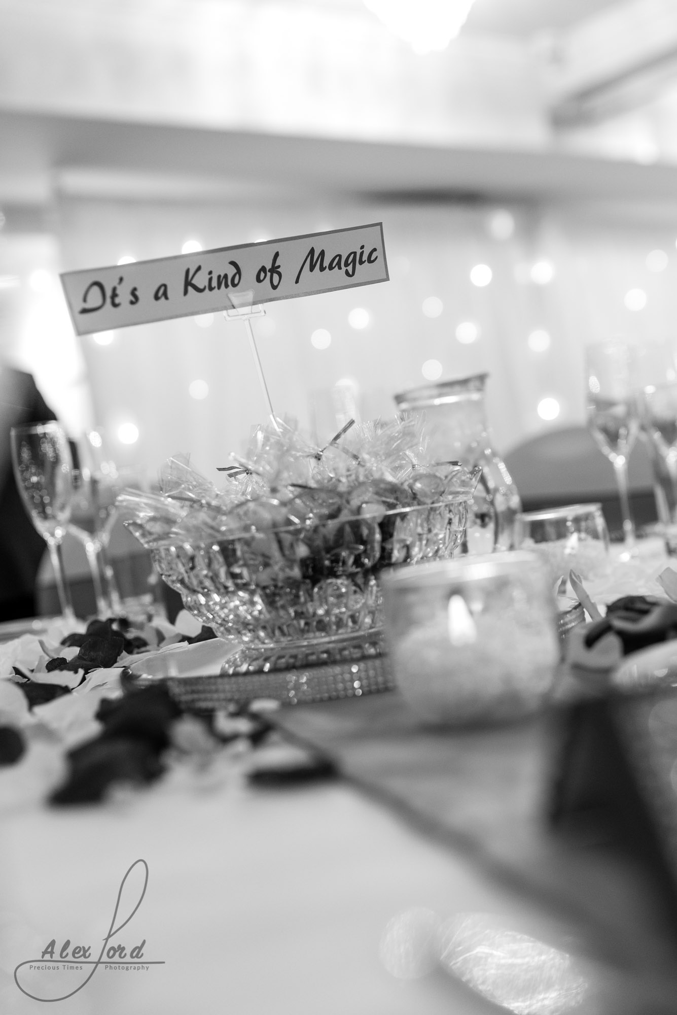 wedding breakfast table decorations named after songs