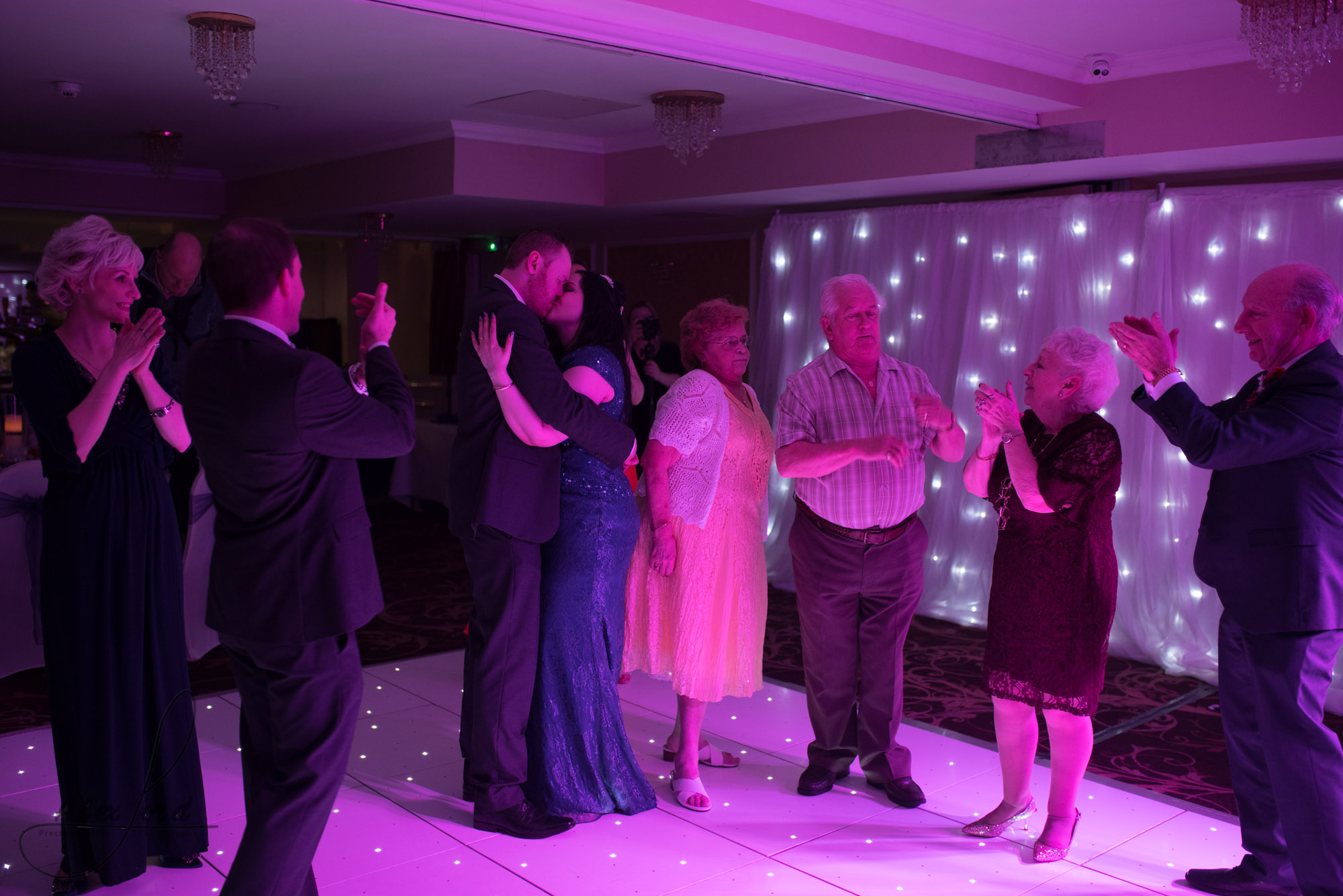 guests dancing on the packed dance floor