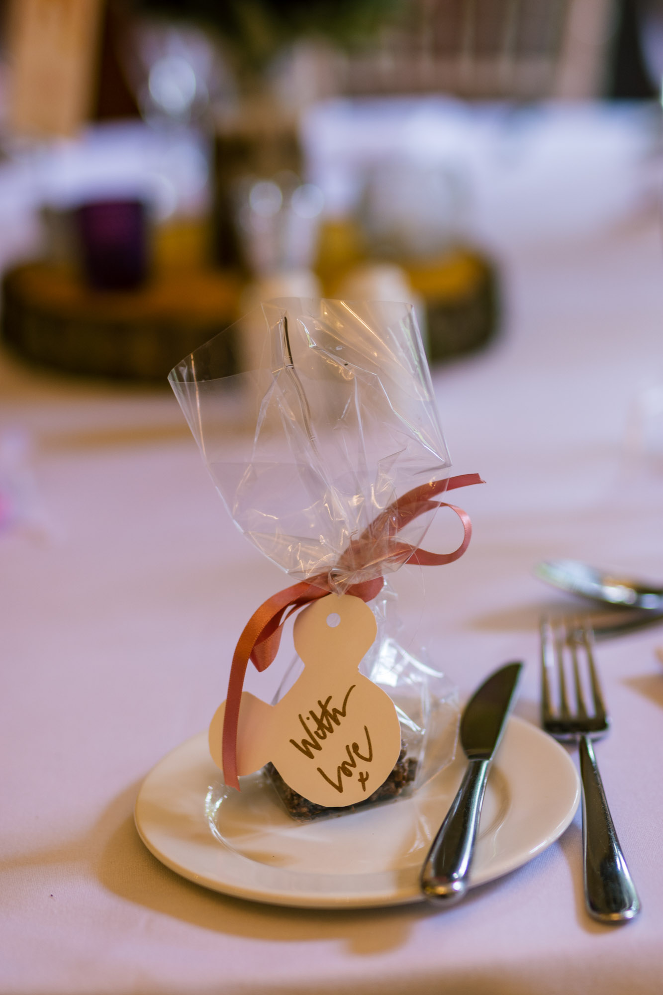 Wedding favours at Nunsmere Hall