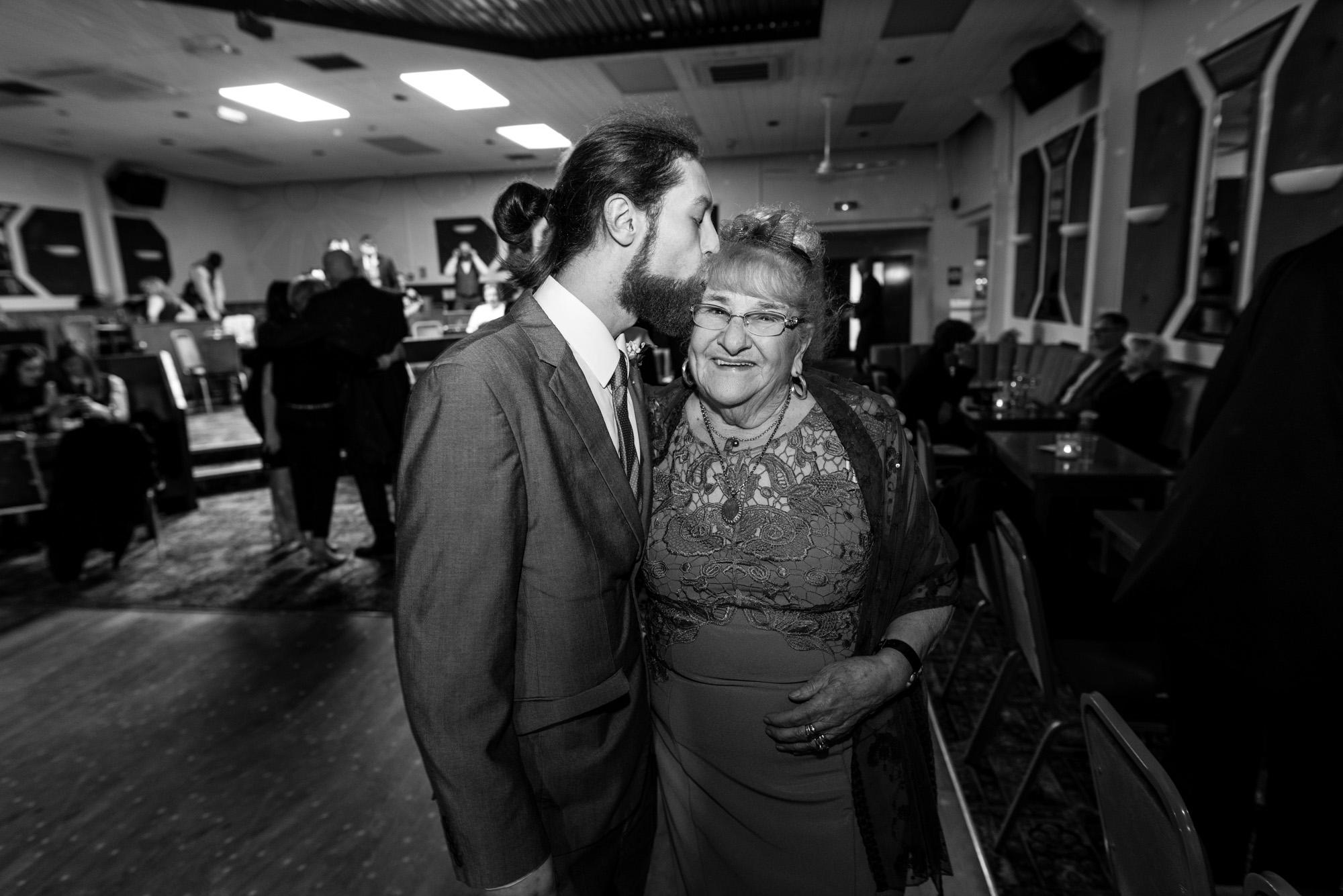 A kiss for Grandma!