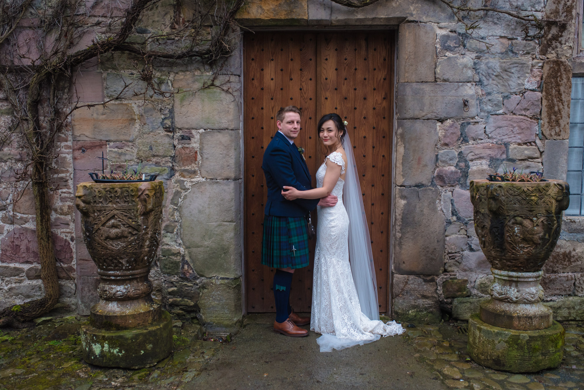 Shropshire wedding photographer at Askham Hall in `Cumbria.