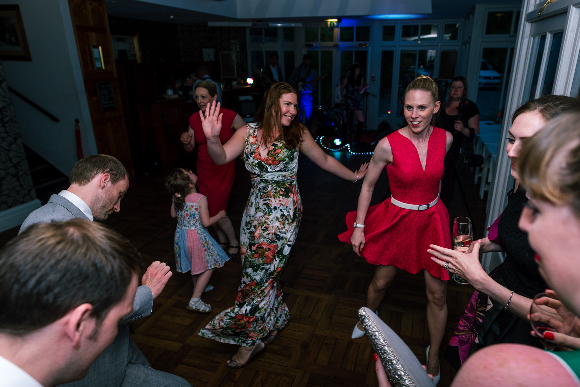 The guests throwing out some shapes on the dancefloor
