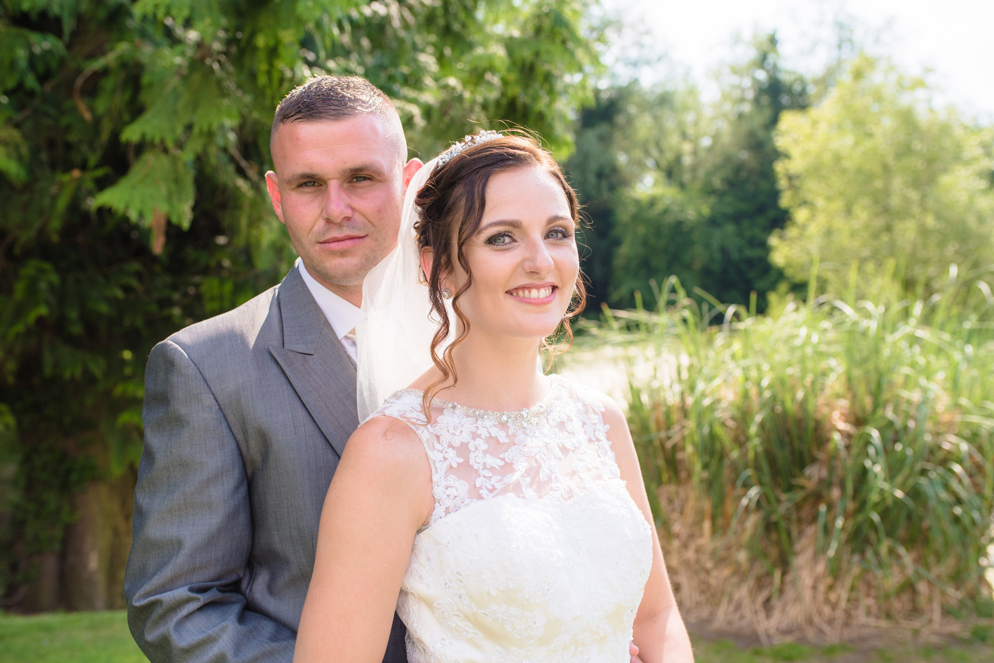 Shropshire Wedding Photographer bride and groom portrait