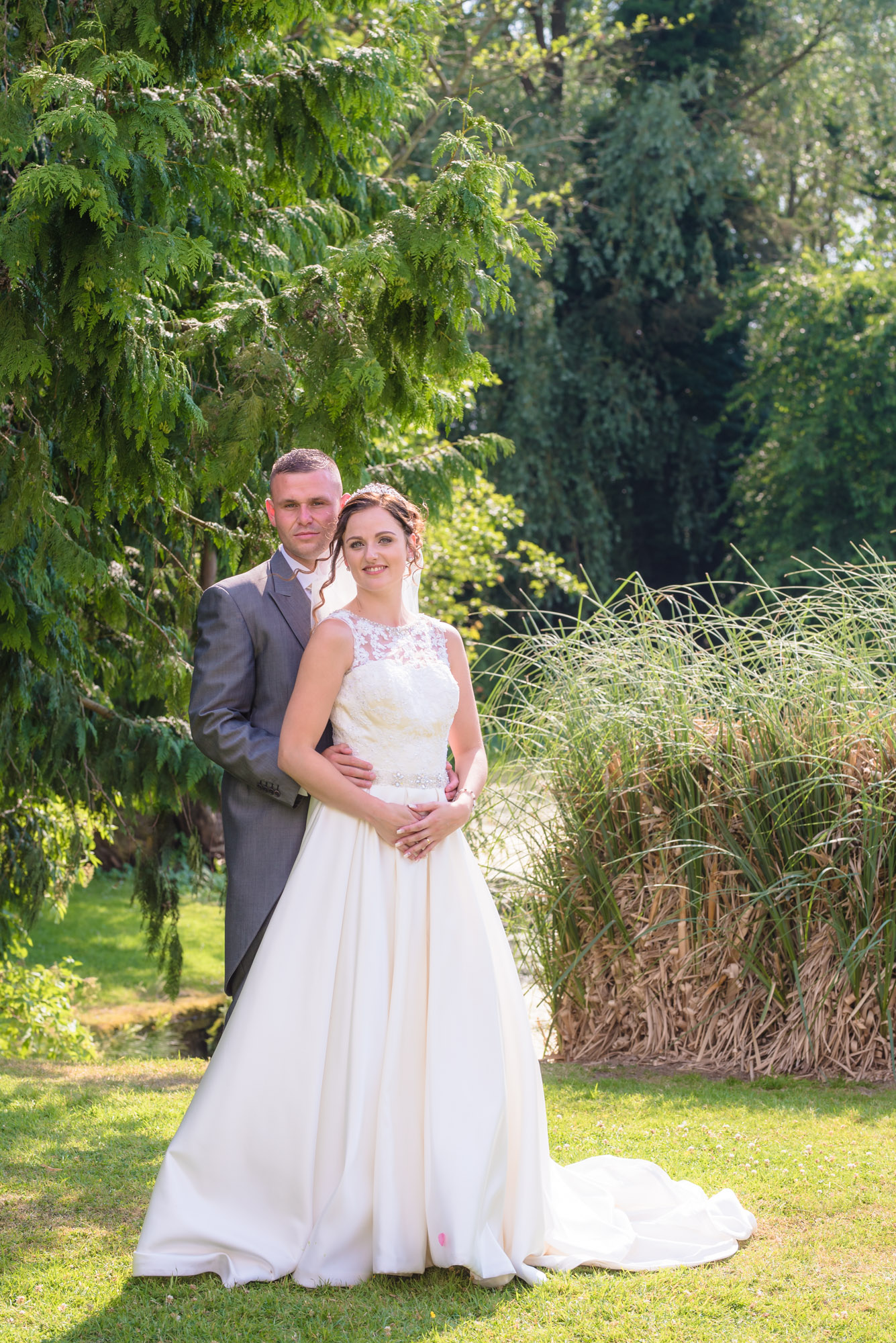 Shropshire wedding photography bride and groom portrait