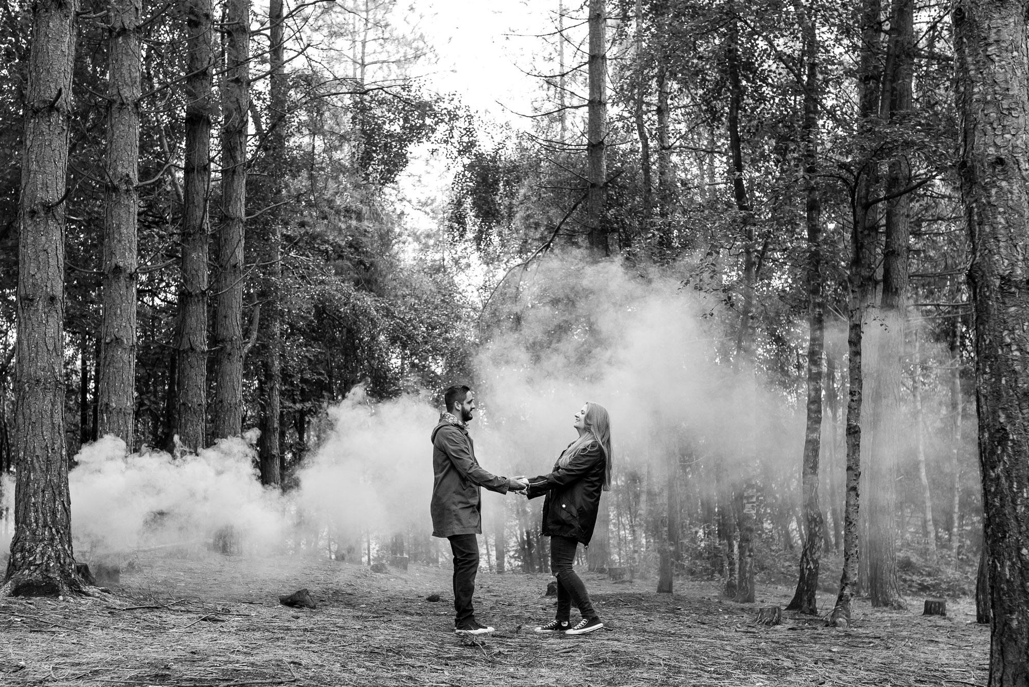 Smoke grenade in Delamere Forest