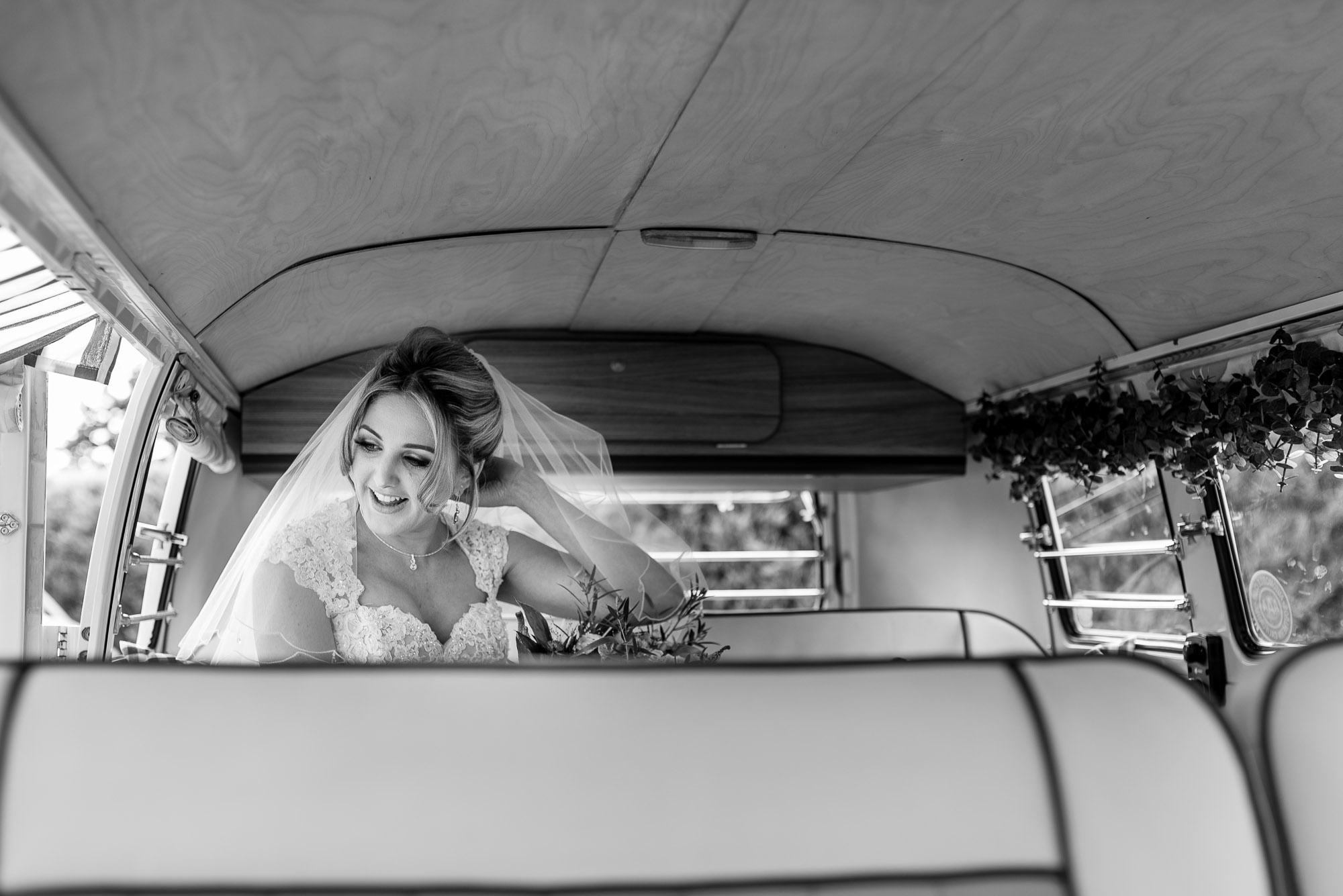 Bride in the Camper Van