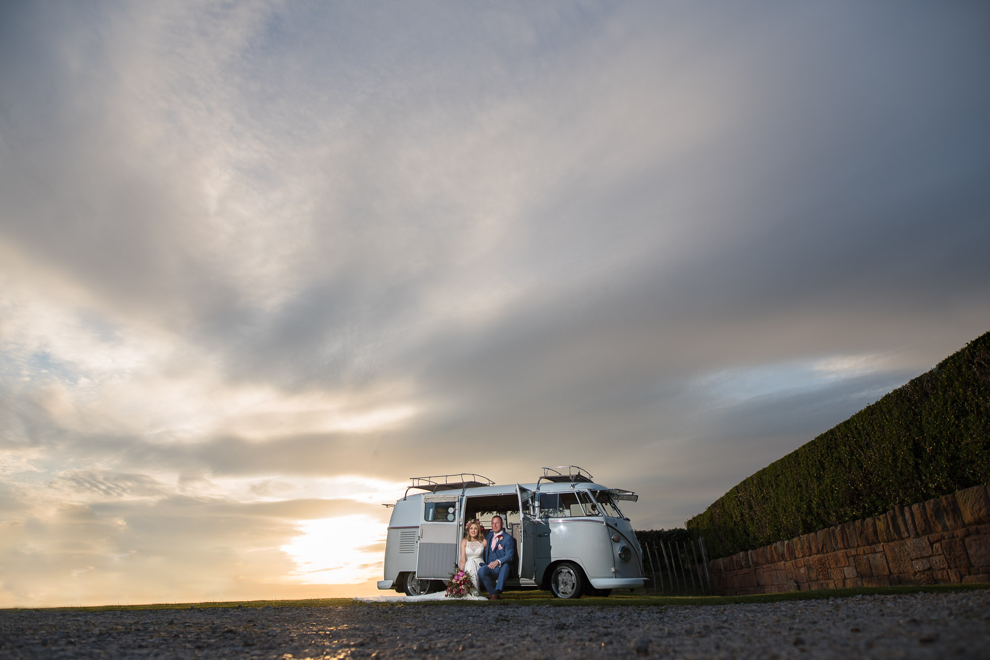 Camper Van at sunset