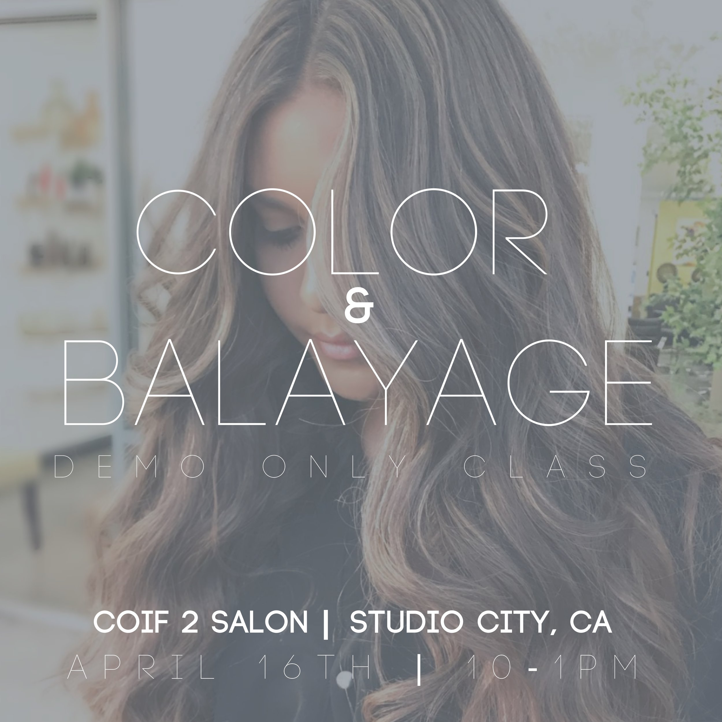 COLOR & BAYALAGE DEMO CLASS