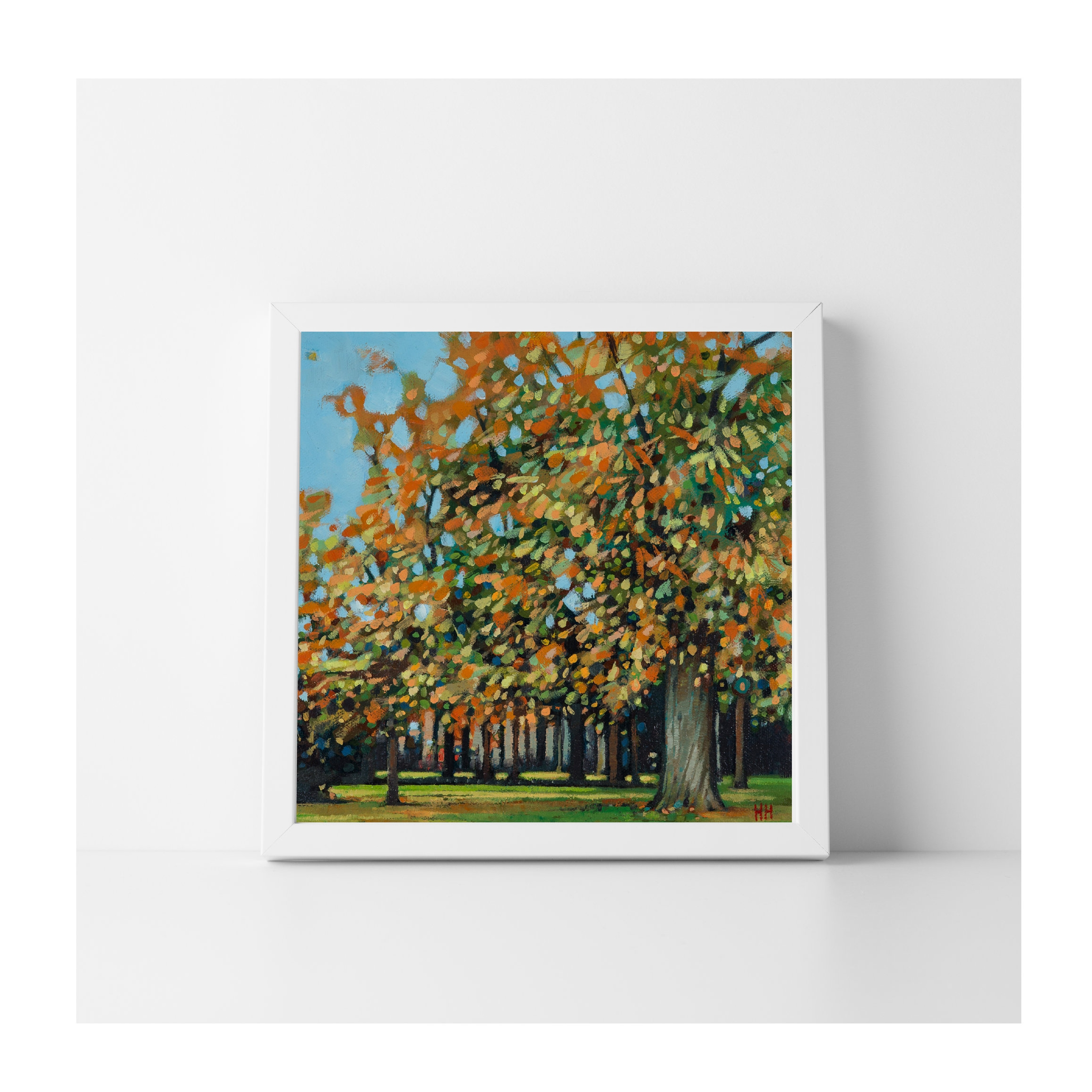SOLD  - 'A park of Autumn Trees'