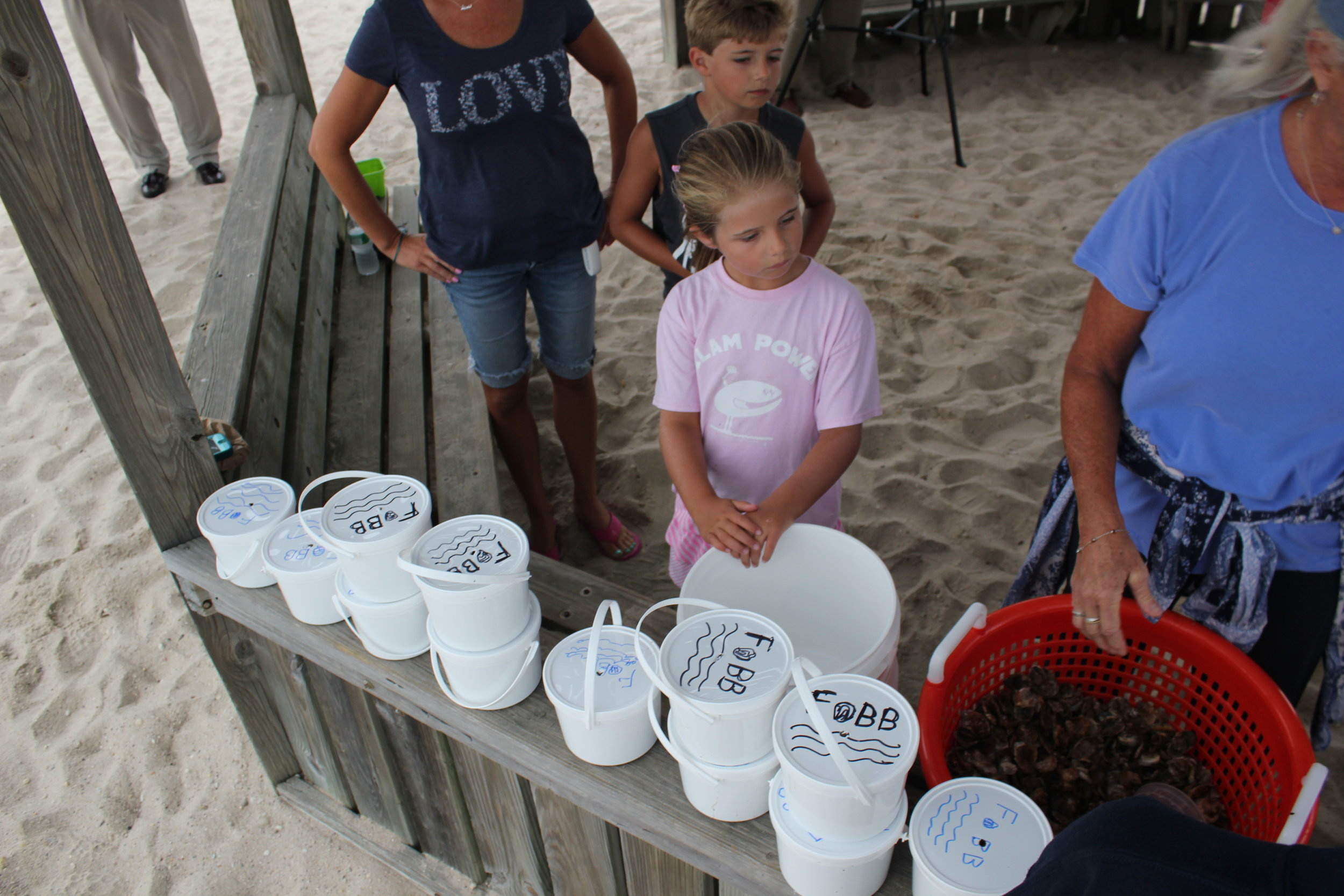 Frst Plnt Ltl Girl Oyster Buckets at Dock.JPG
