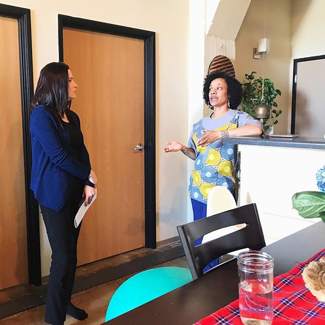 We sat down with @juliafello from @todaystmj4 this morning to talk about the support doulas provide and the impact of our care on healthy birth outcomes. Catch the story tomorrow 3/19 at 6am and 4pm. We want to make sure Milwaukee and our state as a whole gets it right when it comes to supporting doulas and their clients.  To support our work check out our previous post #trustblackdoulas or visit marooncalabash.com/donate  #doulasareessential #supportblackbirthworkers #TrustBlackDoulas #blackmamasmatter #reproductivejustice