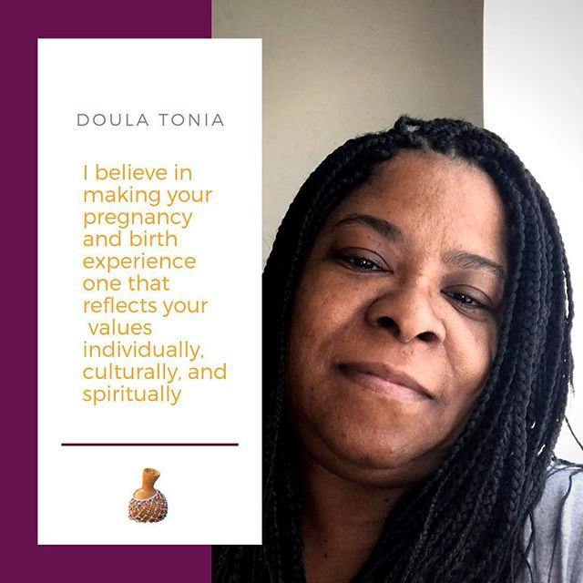 My name is Tonia Davis, I have two successful sons, a sweet granddaughter, and wonderful god children. My journey as a doula working in the community started over five years ago when I attended the birth of my first godson. That day God's gift to me was revealed. Since then I have been nurturing mothers during their pregnancy, labor and postpartum trimester as a Doula. I successfully completed Dona International approved Birth and Postpartum Doula training. As well as received my certification.  Other areas of training include breastfeeding, childbirth education, massage, and being CPR Certified.  Having a child is such a precious moment of your life. It gives my heart peace and joy to assist a mother while she is giving birth her way. In addition, I am passionate about caring for your family when you return home with your sweet baby. My goal is to always provide educational resources, companionship, and non-judgmental support to you and the family.  #trustblackdoulas #blackmamasmatter #marooncalabash #doulasaredope #milwaukeedoulas
