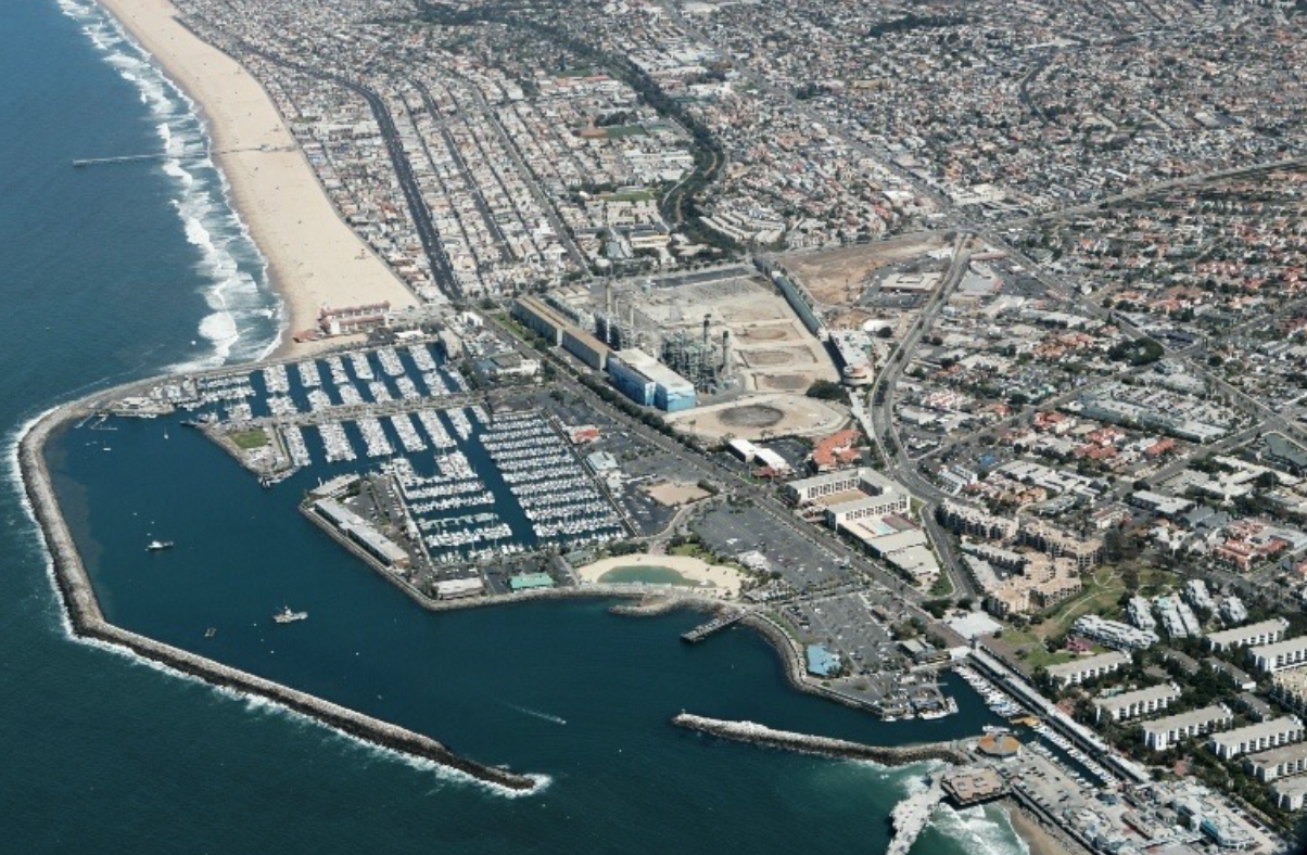 AES site in perspective to highlight Redondo Beach and surrounding cities high density population.