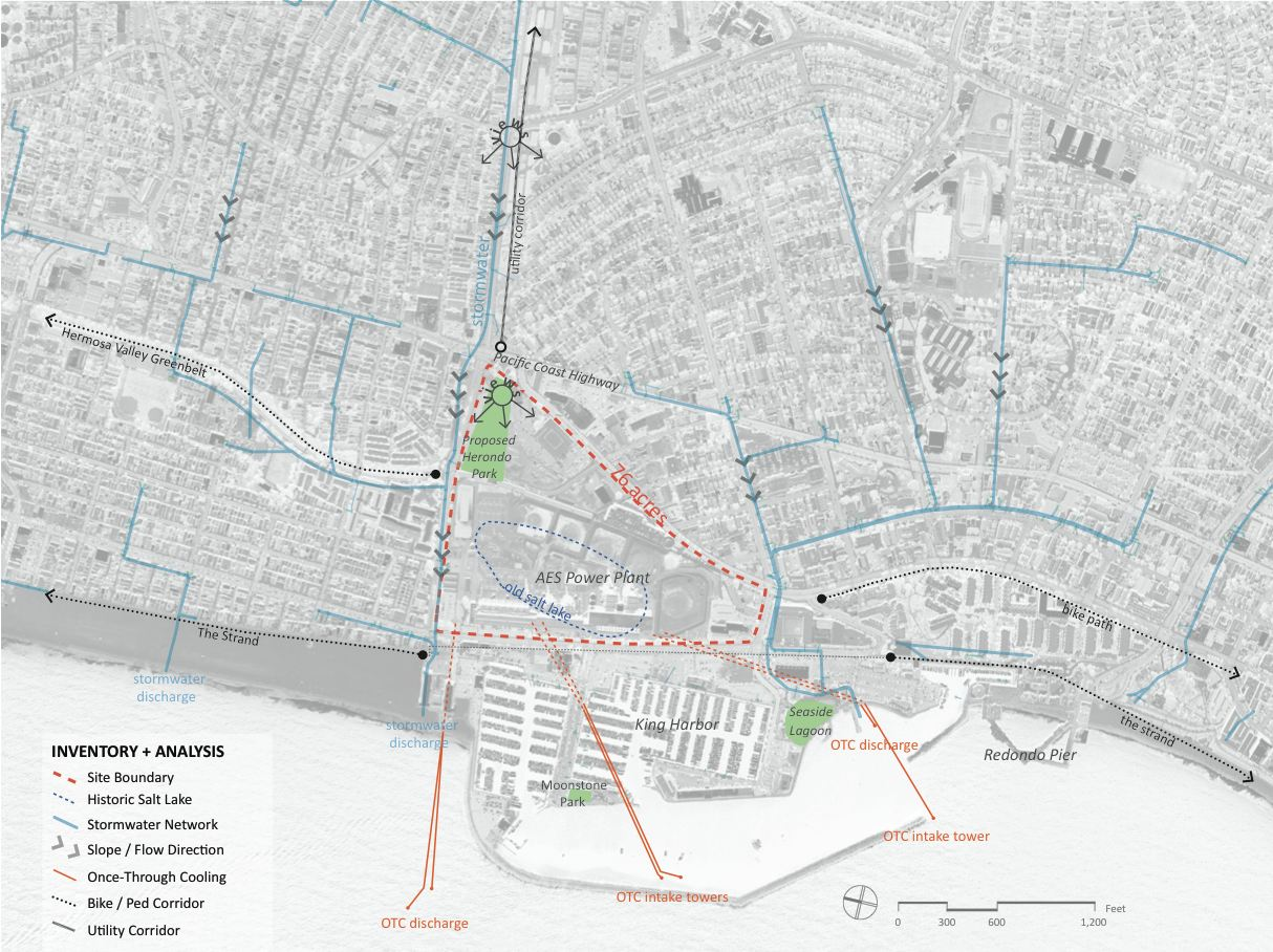 The 606 Graduate Studio's analysis of the King Harbor/AES site area