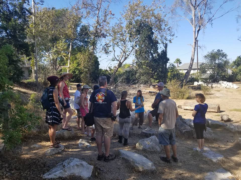 SBPC Members and the community gather in Hopkin's Wilderness Park in Redondo Beach to discuss how to restore the lower pond and introduce native plants to support the native habitat. - October 7, 2017