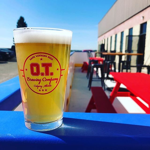 It may look like a hockey rink out front but that doesn't mean it's not a stellar day for patio beers down at @otbrewing_co.  This will be OT's second year as part of the #barleybelttaptour and this year they're pulling out all the stops. Be sure to pop by and try a 5 Hundie Hazy IPA on August 24th. Ticket link in bio.  #yyc #yycnow #yycevents #yycliving