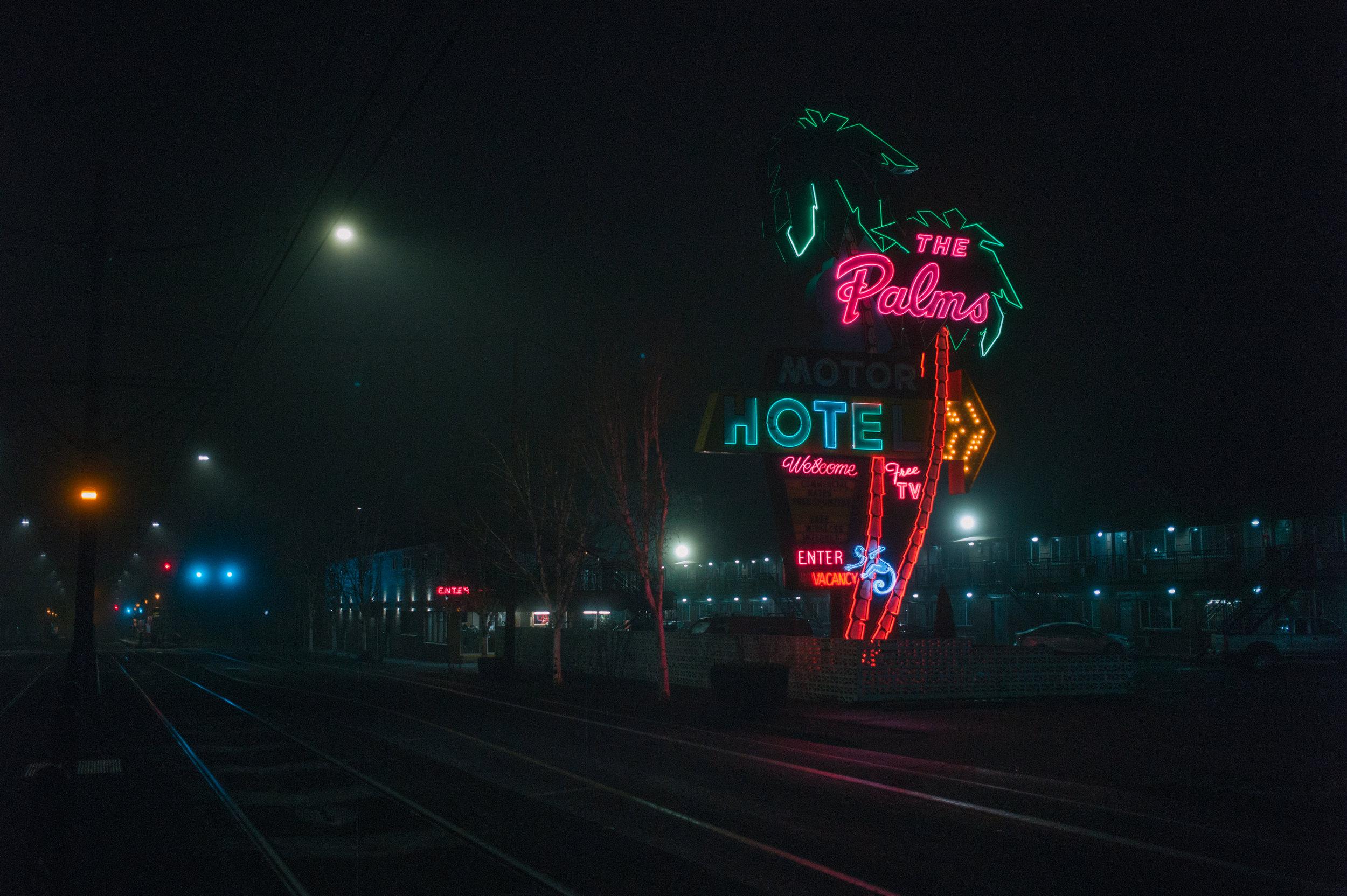 Palms Motor Inn, Portland.