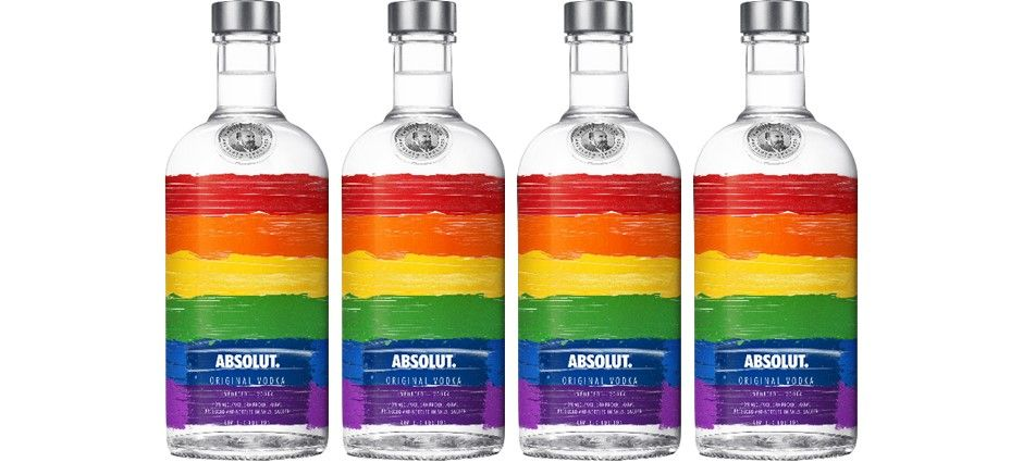 2009: Absolut saluted 40 years of Gay Pride marches with a rainbow bottle.
