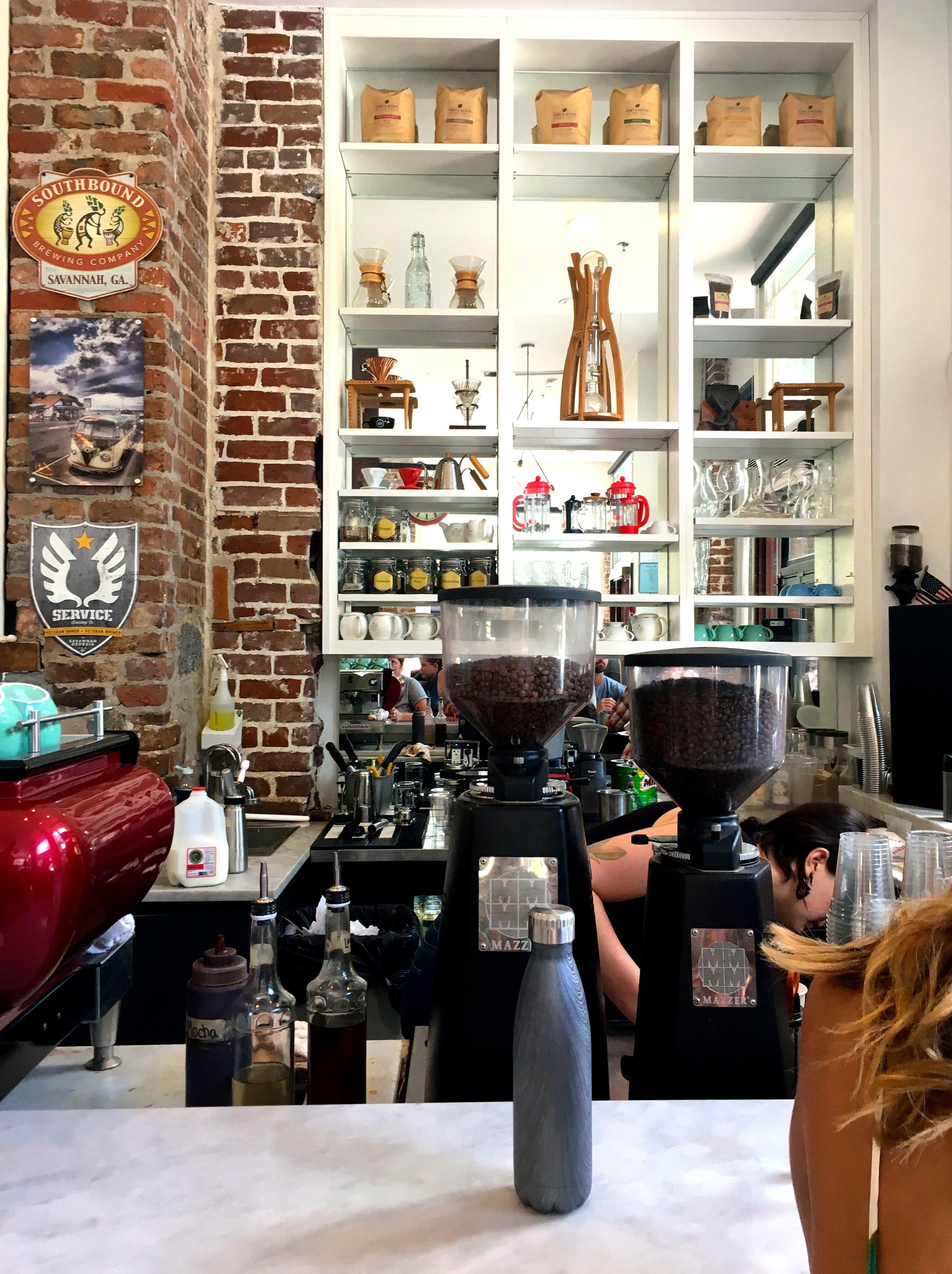 Coffee corner. -