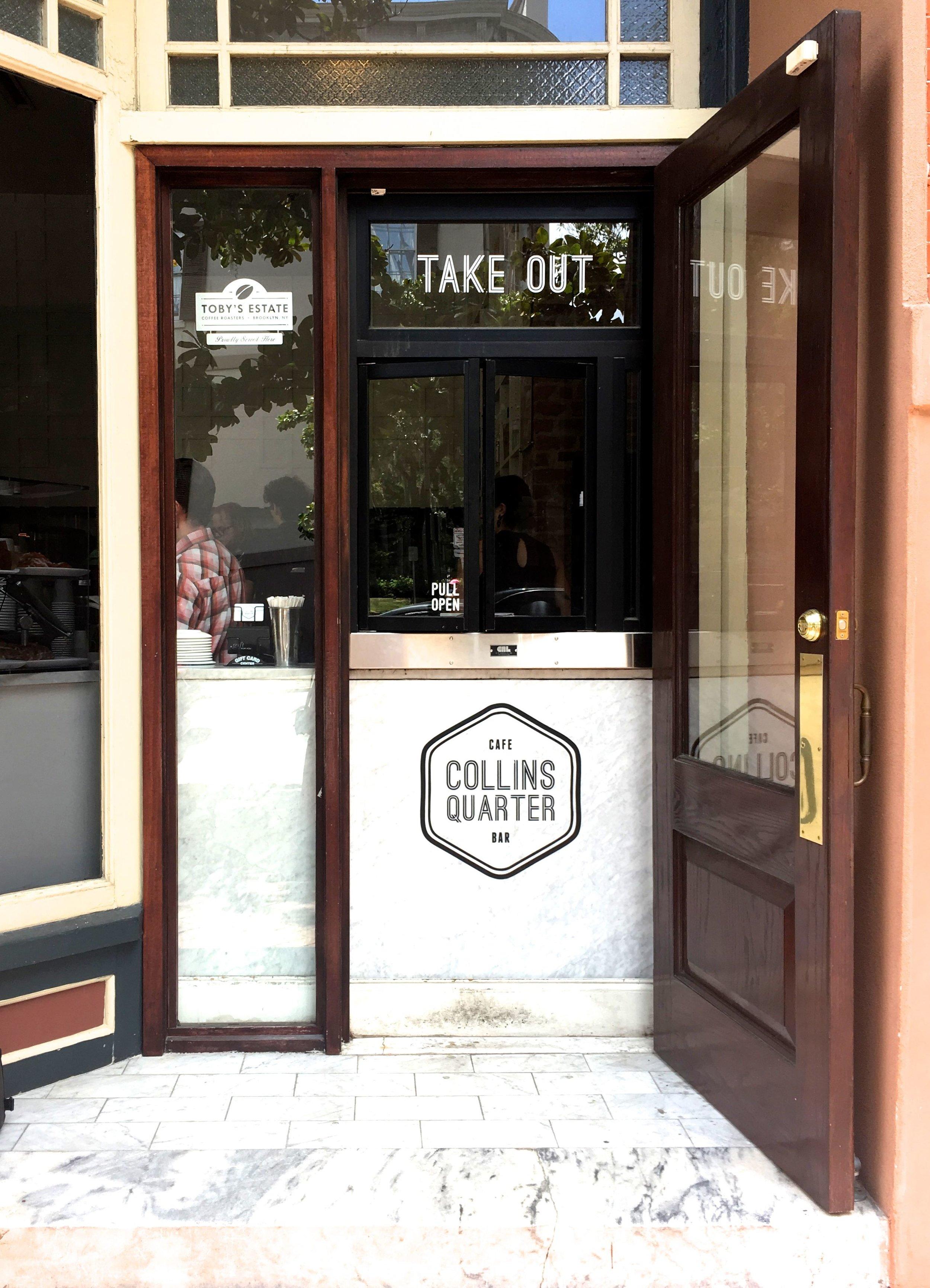 To-gocoffee window. -