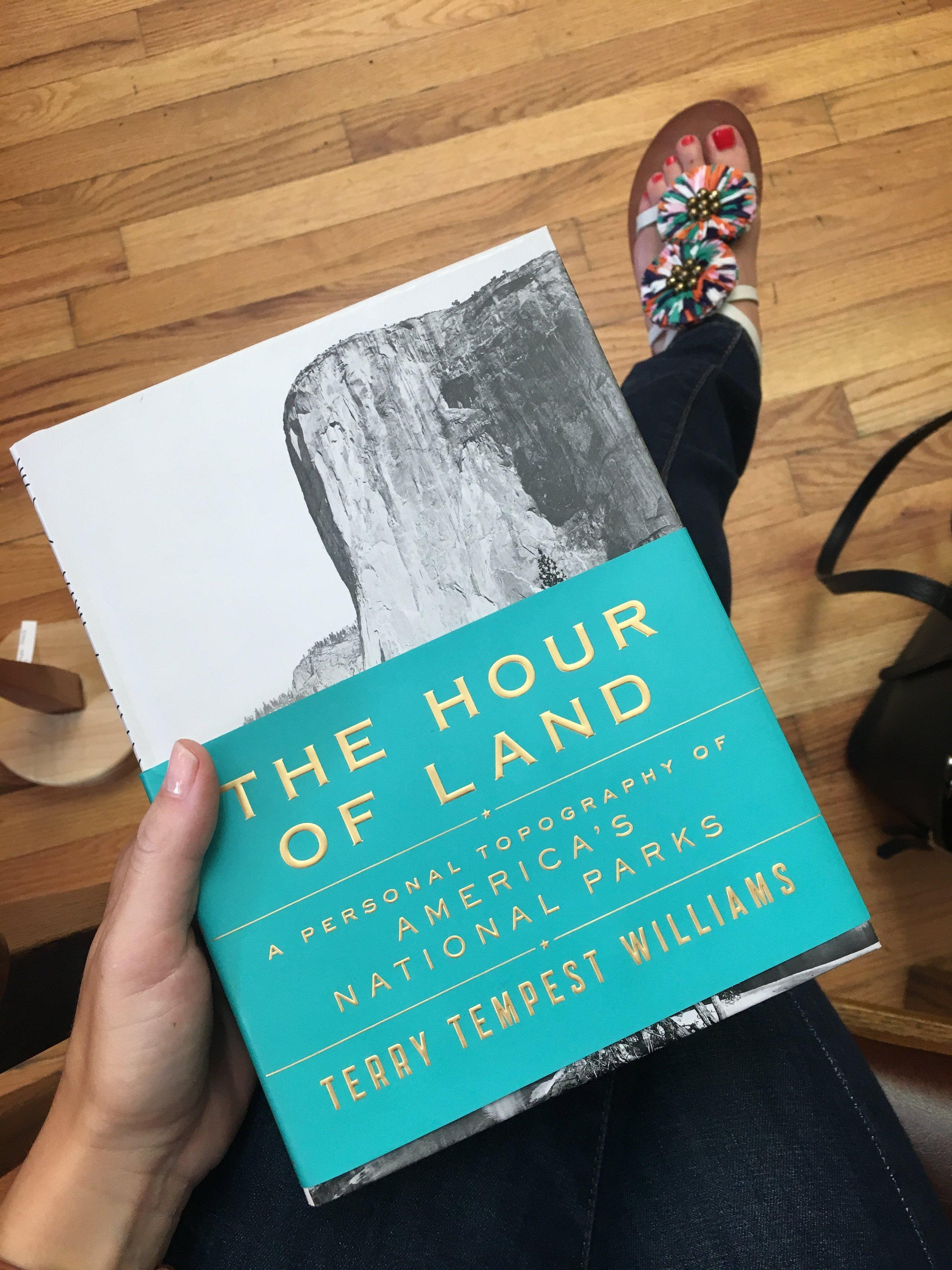 My choice: a book on national parks. -