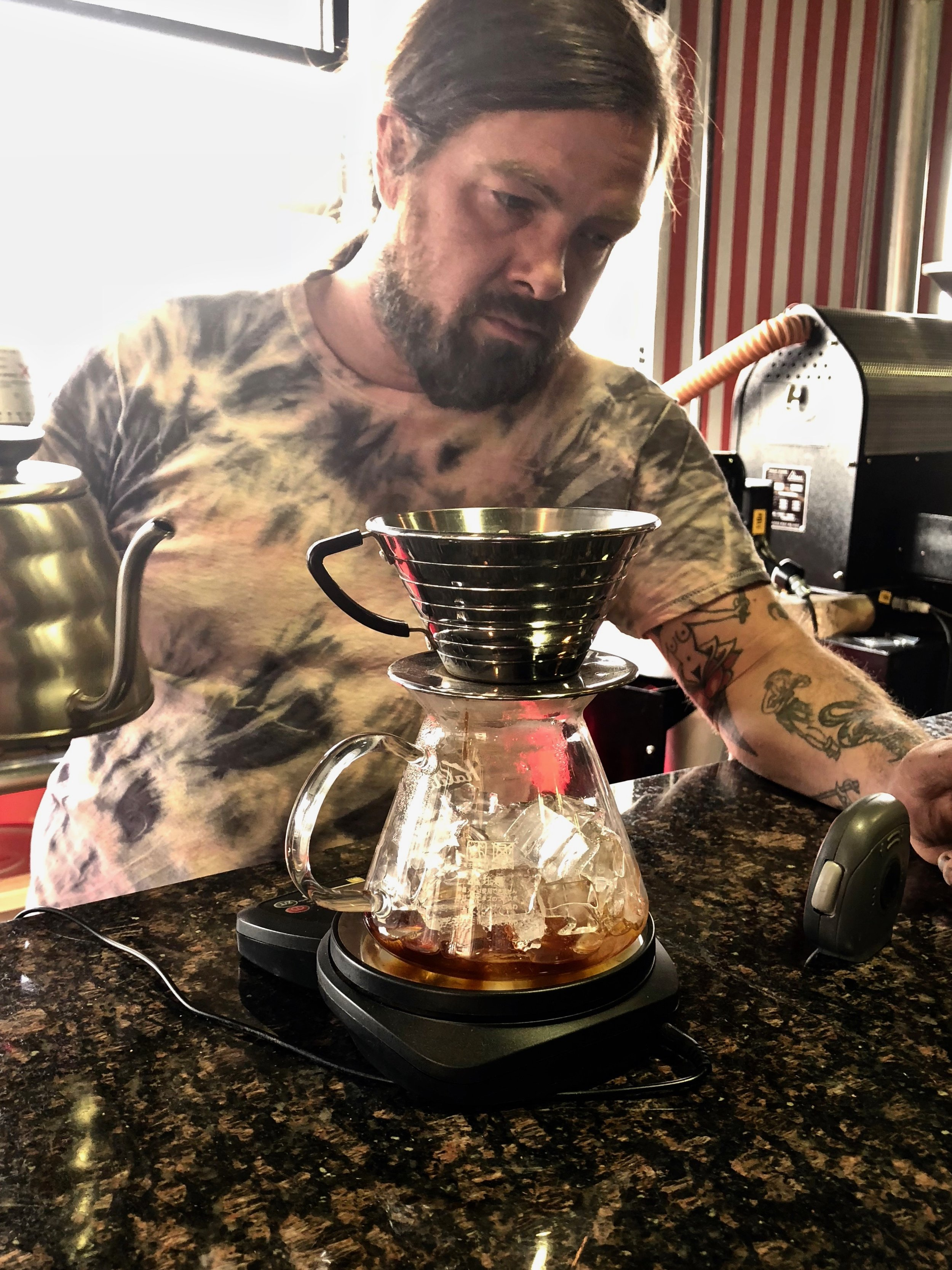 Iced pour over - Served by one of 2Ten's friendly & knowledgable baristas.