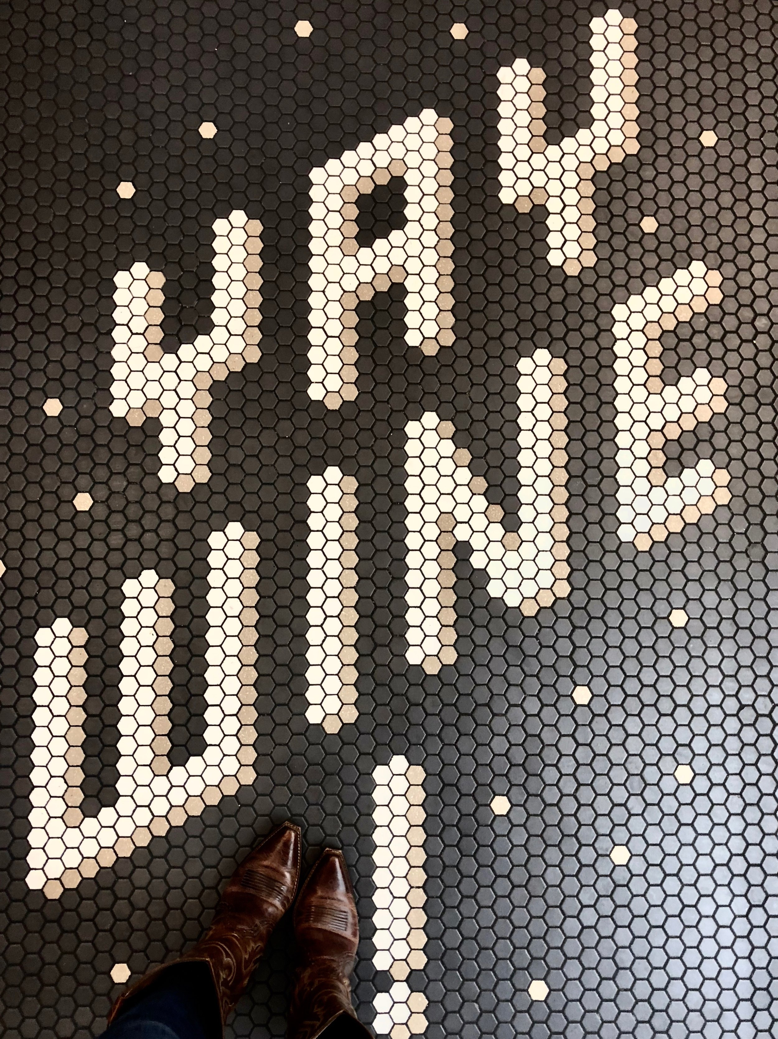 You can't miss the 'YAY WINE' floor! -