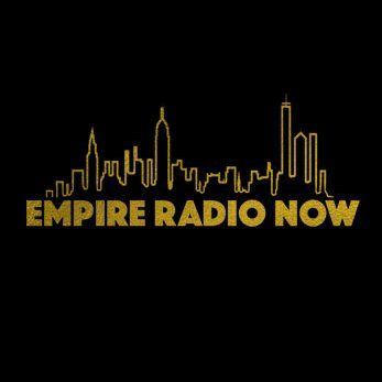 Black background with gold city outline logo. Links to audio clip.