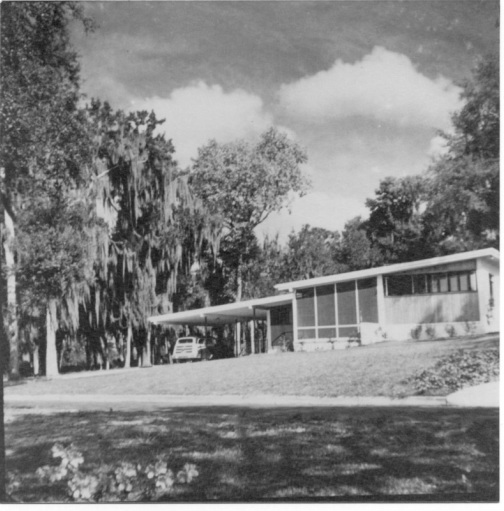 Our house on Lake Sue in Winter Park shortly after it was built in 1951. It never got much better looking.