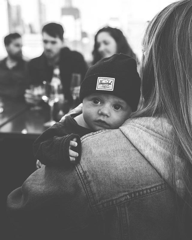 T'suh dewds! ✌️ . . . #eddiebaby #fujixt3 #fujifilm #portraitphotography #portrait #baby #blackandwhite #hipbaby #herschel #jeans