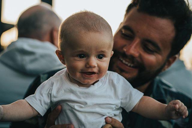 Happy little Eddie 📷 @joncrim . . . #baby #portrait #fatherandson #socal #sandiego #cardiff #brewery #delmar #vacations