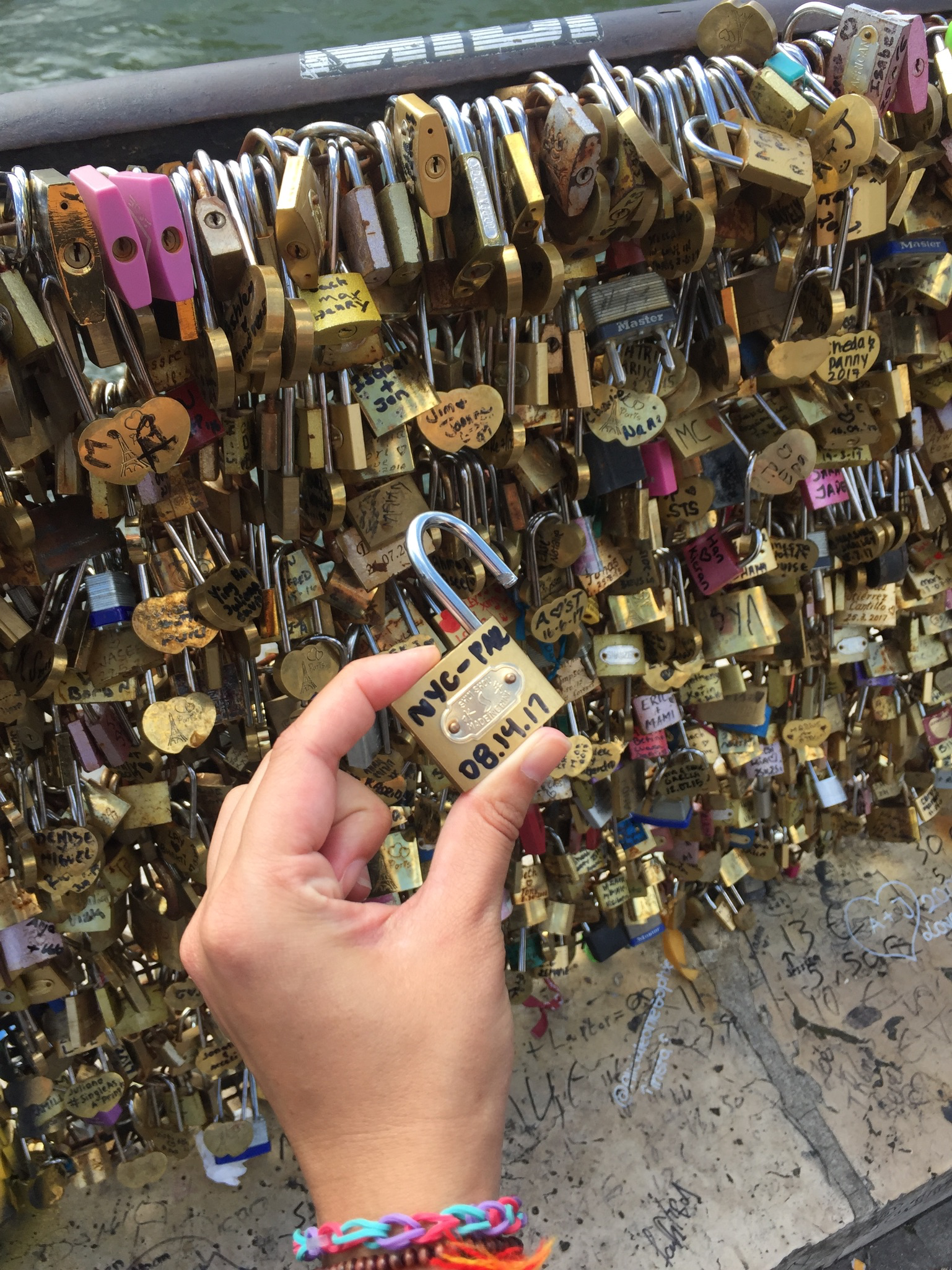 """From NYC to Paris -- the """"Love locks"""" are making a comeback in Paris."""