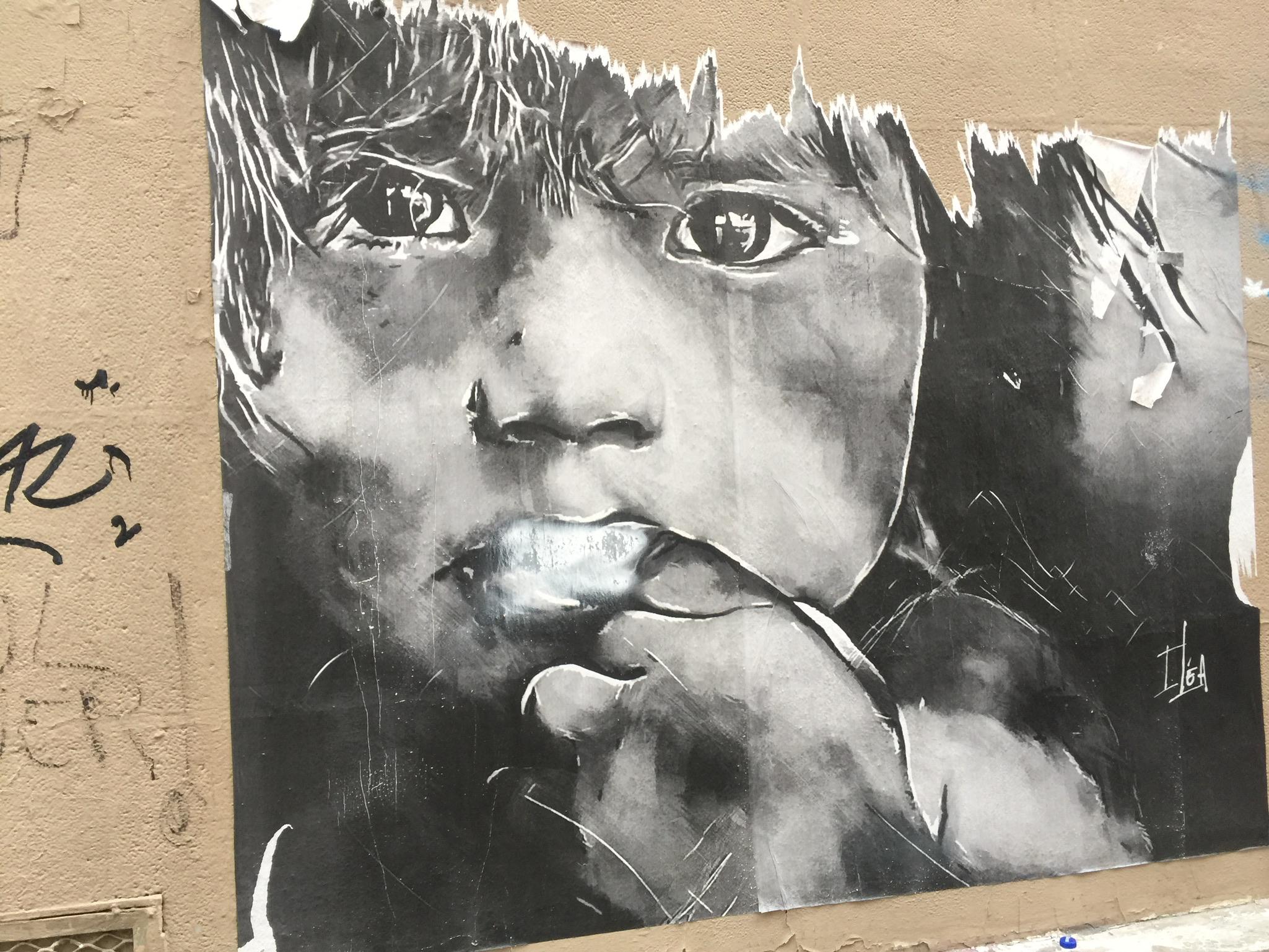 Street art in western Paris.