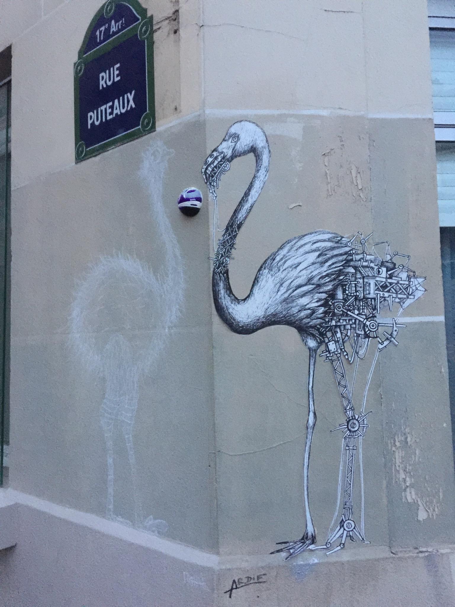 Street art in central Paris.