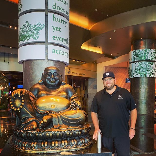 We were in Las Vegas recently and saw this amazing Buddha — luck was on our side!  #americanbuddha  #lasvegas  #buddha  #buddhas  #americanbuddhaco  #vdaralasvegas  #vdara