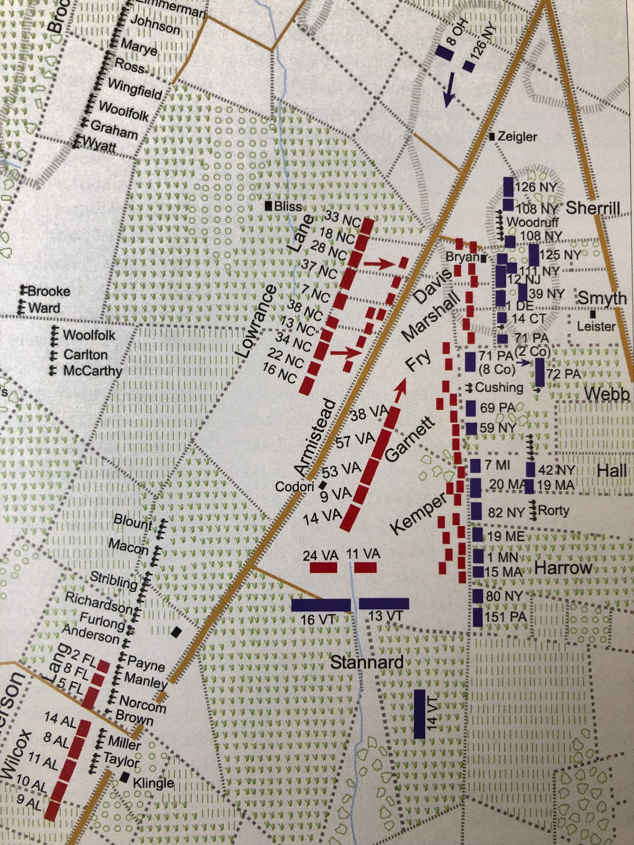 Image available in Bradley M. Gottfried,   The Maps of Gettysburg: An Atlas of the Gettysburg Campaign, June 3- July 13, 1863   (New York: Savas Beatie, 2013), 259.