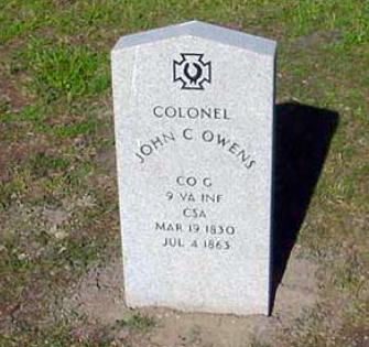 Grave of Colonel Owens in Portsmouth, Virginia