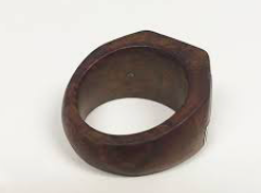 Hand-carved POW wooden ring